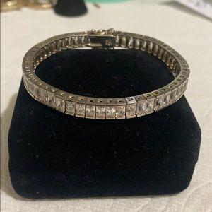 Sterling silver CZ stone bracelet